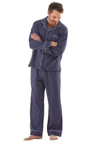Classic Stripe Men's Pajamas - Navy