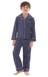 Classic Stripe Boys Pajamas - Navy