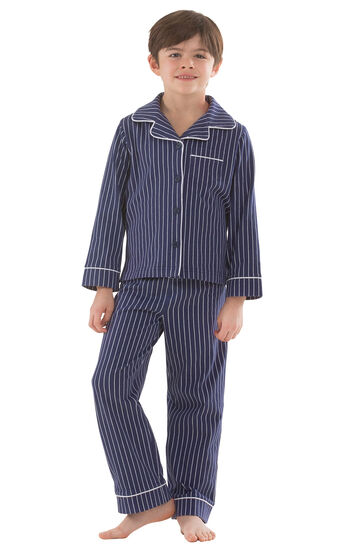 Classic Stripe Boys Pajamas - Navy