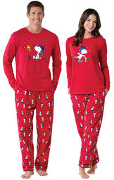 Snoopy & Woodstock His & Hers Matching Pajamas image number 0