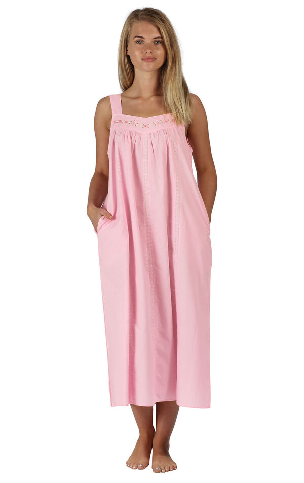 Model wearing Meghan Nightgown in Pink for Women image number 0