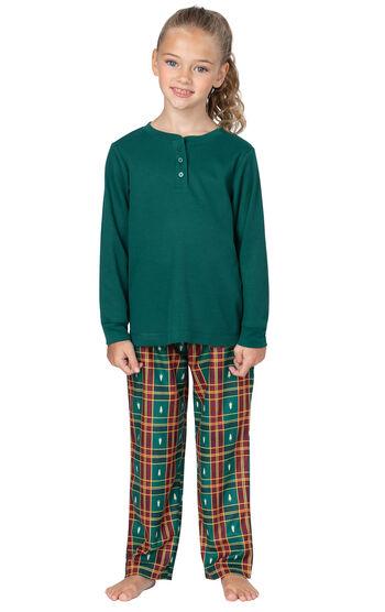 Christmas Tree Plaid Girls Pajamas