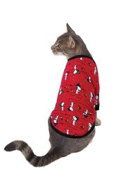 Model wearing Red Snoopy and Woodstock PJ for Cats image number 0