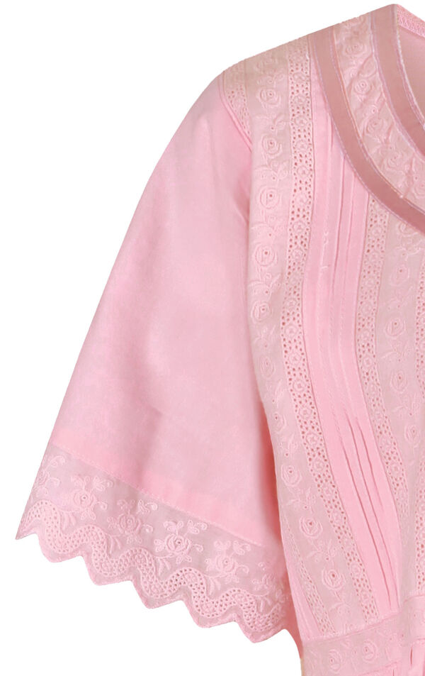 Model wearing Helena Nightgown in Pink for Women image number 5