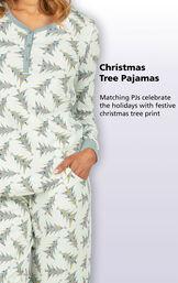 Christmas Tree Pajamas - Matching PJs celebrate the holidays with festive Christmas tree print image number 2