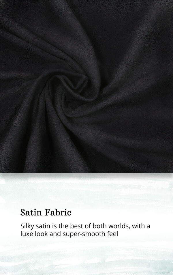 Satin Fabric swatch with the following copy: Silky satin is the best of both worlds, with a luxe look and super-smooth feel image number 4