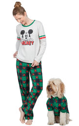 Mickey Mouse Matching Pet & Owner PJs - Red/Green image number 0