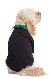 Model wearing Black and Green Snowman Argyle PJ for Pets, facing away from the camera image number 1