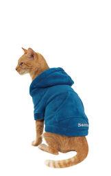 Model wearing Hoodie-Footie - Blue Fleece for Cats image number 0