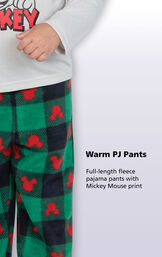 Fll-length fleece pajama pants with mickey mouse print image number 2