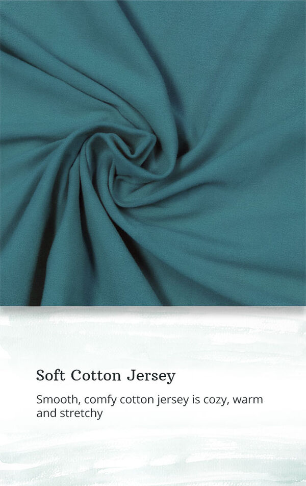 Soft Cotton Jersey - smooth comfy cotton jersey is cozy, warm and stretchy image number 4