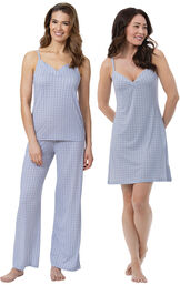 Blue Naturally Nude Cami PJs and Chemise image number 0