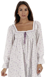 Model wearing Martha Nightgown in Lilac Rose for Women image number 4