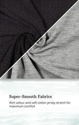 Black Ribbed Velour Hoodie Legging Pajamas for Women image number 4