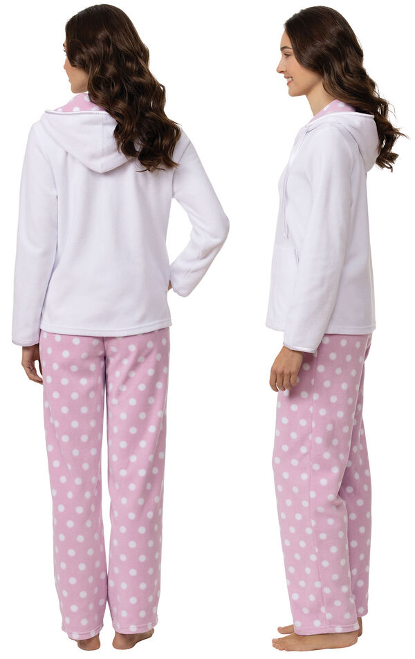 Snuggle Fleece Hoodie Pajamas image number 1