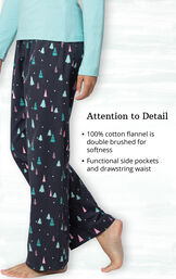 100% cotton flannel is double brushed for softness. Functional side pockets and drawstring waist. image number 4