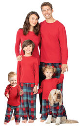 Yuletide Plaid Matching Family Pajamas image number 0