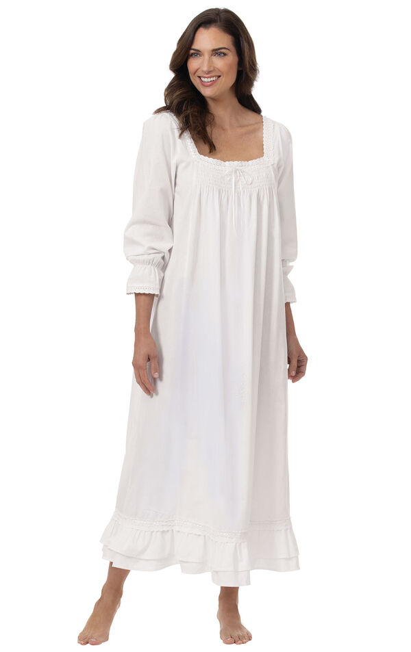 Model wearing Martha Nightgown in White for Women image number 0