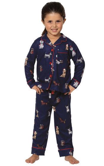 Christmas Dogs Toddler Pajamas - Navy Blue