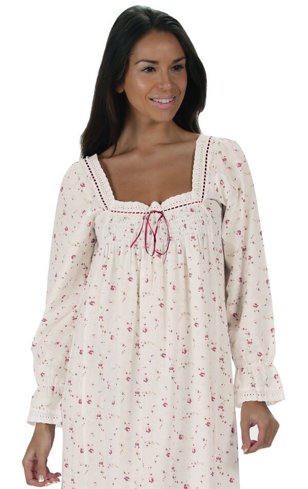 Model wearing Martha Nightgown in Vintage Rose for Women image number 5