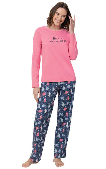 Home Is Where Your Cats Are Women's Pajamas