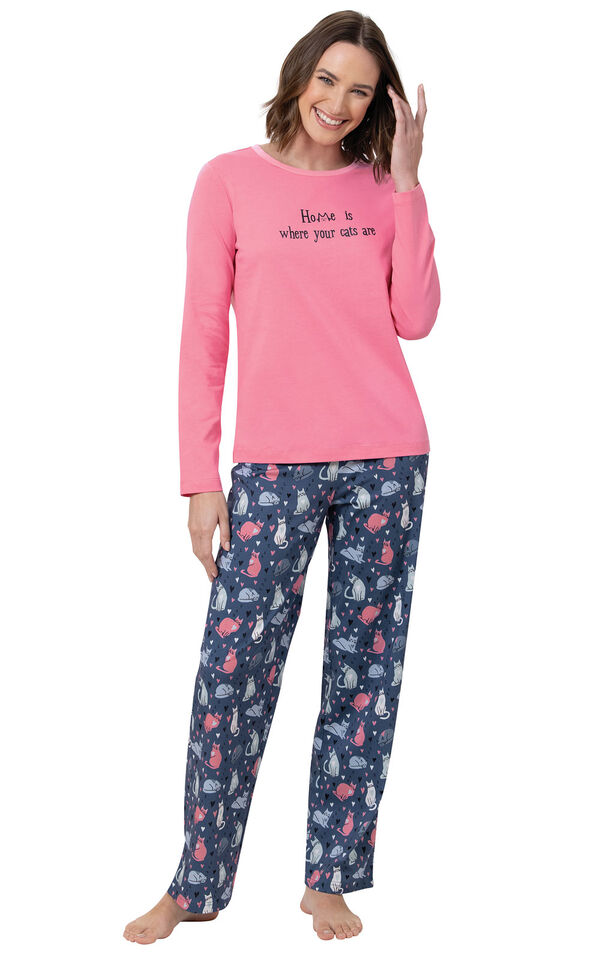Home Is Where Your Cats Are Women's Pajamas image number 0