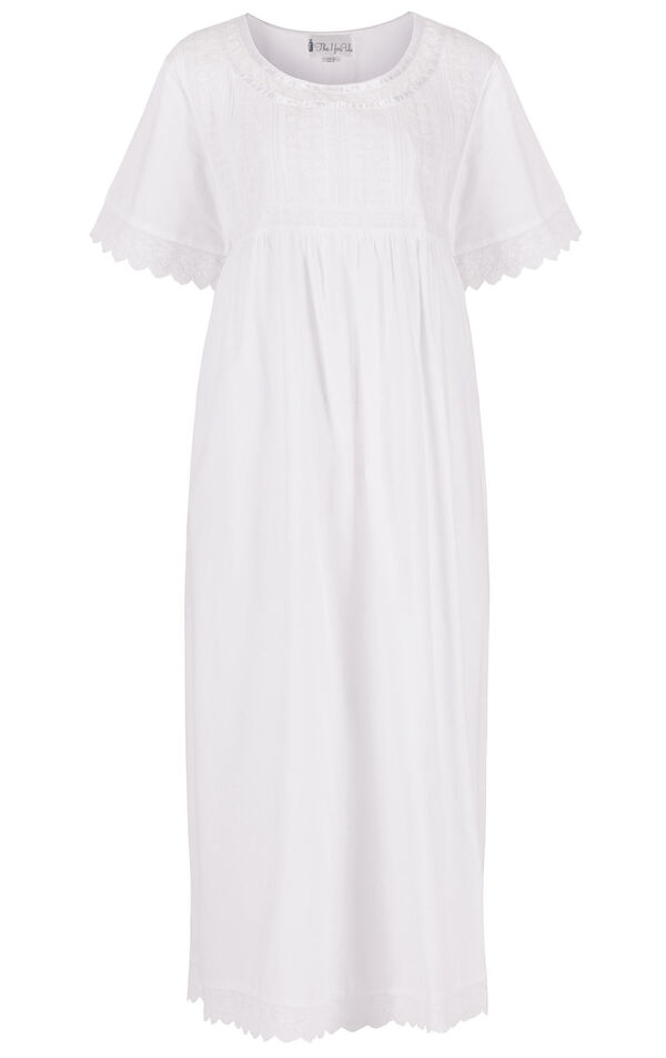Model wearing Helena Nightgown in White for Women image number 4