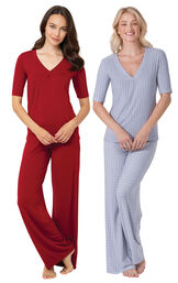 Red and Blue Naturally Nude PJs Gift Set