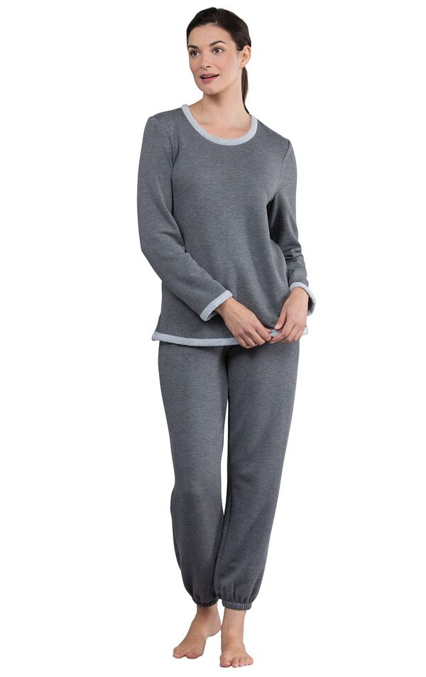 Model wearing World's Softest Gray PJ for Women image number 2