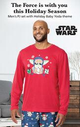 Baby Yoda Men's Pajamas by Munki Munki® image number 2
