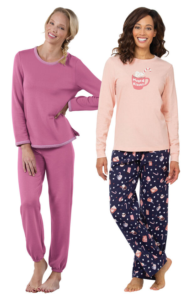 Mugs and Kisses PJs and Raspberry World's Softest Jogger PJs image number 0