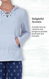 Addison Meadow PajamaGram Fleece Hoodie PJ - Blue image number 3