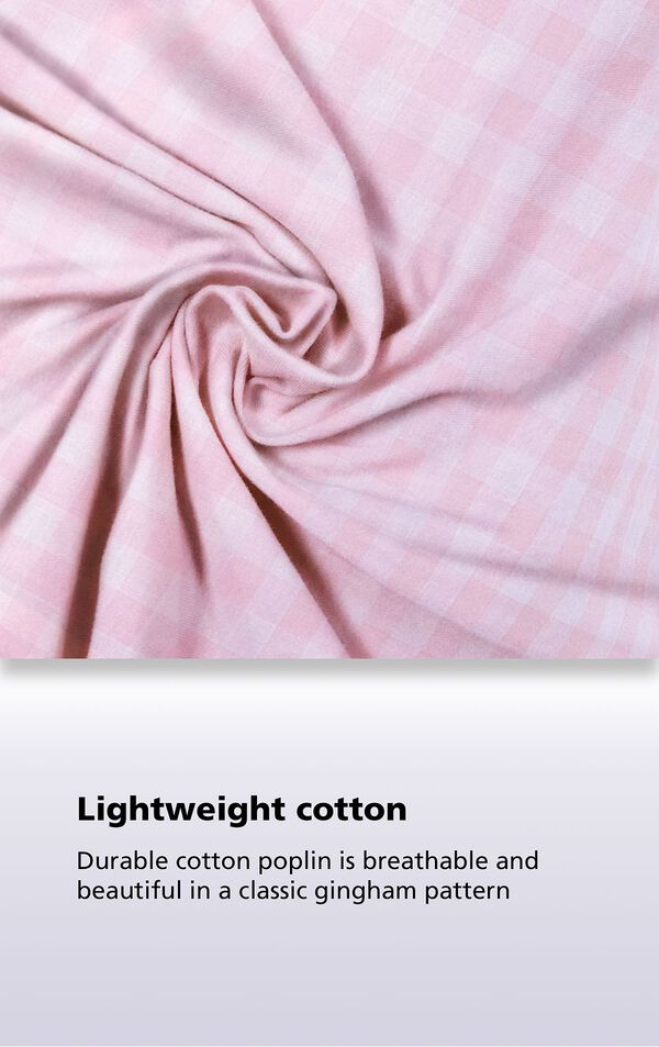 Lightweight cotton - Durable cotton poplin is breathable and beautiful in a classic gingham pattern image number 4