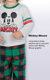Long-sleeve jersey pajama top is cozy and warm with Mickey Mouse graphic image number 1