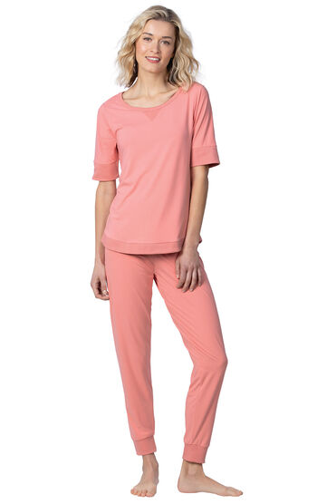 Addison Meadow|PajamaGram Whisper Knit Joggers - Coral