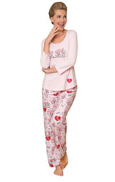 Model wearing I Love Lucy Chocolate Factory PJ for Women image number 0