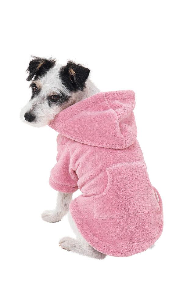 Model wearing Hoodie-Footie - Pink Fleece - Pet image number 0
