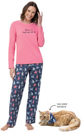Home Is Where Your Cats Are Matching Pet & Owner PJs image number 0