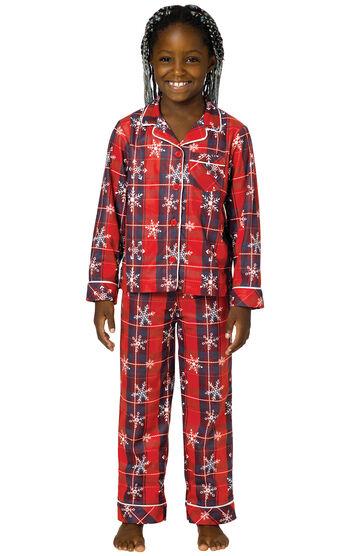 Americana Plaid Snowflake Girls Pajamas