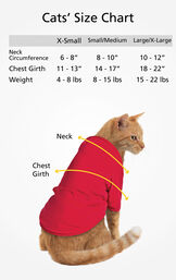Cats' Sizes X-Small (for cats 4-8 lbs), Small/Medium (for cats 8-15 lbs) and Large/X-Large (for cats 15-22 lbs) image number 5