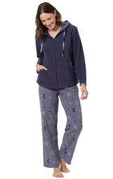 Snuggle Fleece Hoodie Pajamas image number 0