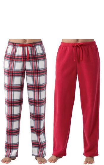 Addison Meadow|PajamaGram Fleece Pant 2-Pack - Red Multi