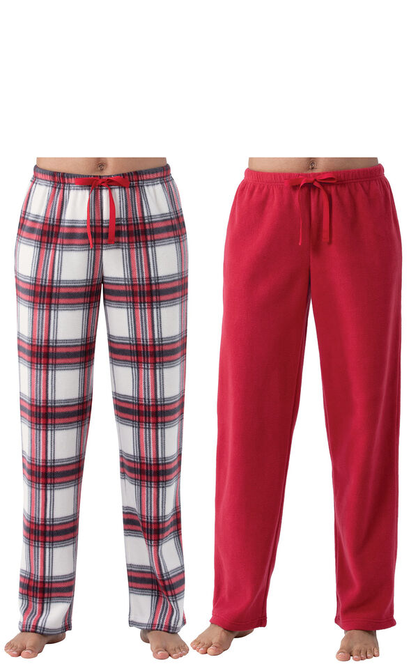 Red Pajama Pant 2-Pack for Women image number 0
