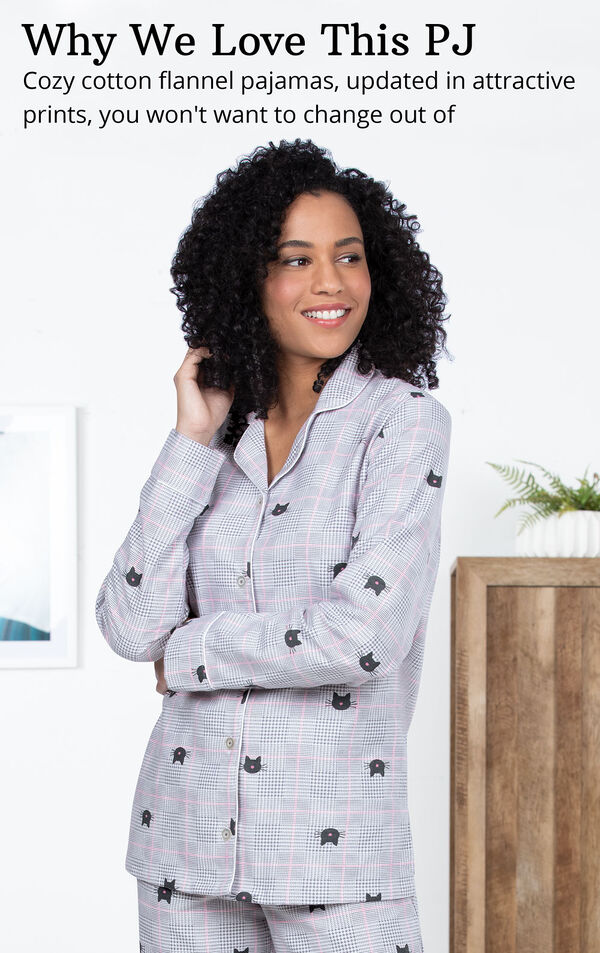 Addison Meadow|PajamaGram Slim Fit Boyfriend PJs image number 4