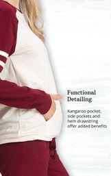 Functional Detailing - Kangaroo pocket, side pockets and hem drawstring offer added benefits image number 4