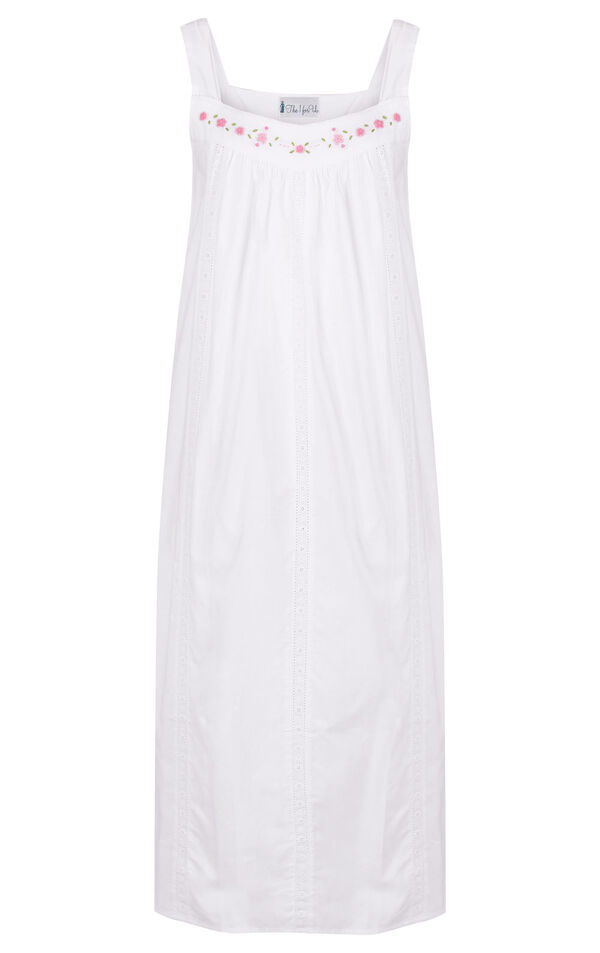 Model wearing Meghan Nightgown  in White for Women image number 4