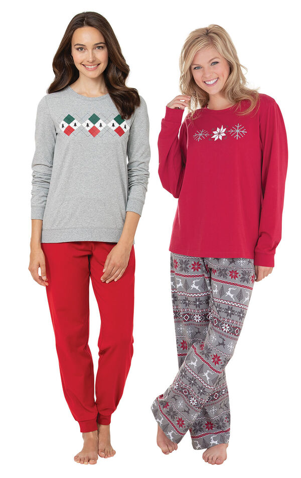 Holiday Argyle and Nordic PJs image number 0