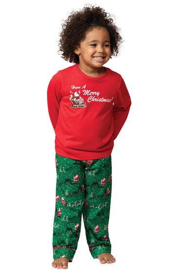 Santa's Sleigh Toddler Pajamas