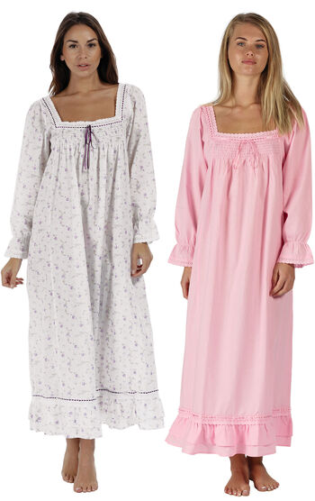 Lilac Rose & Pink Martha Nightgowns