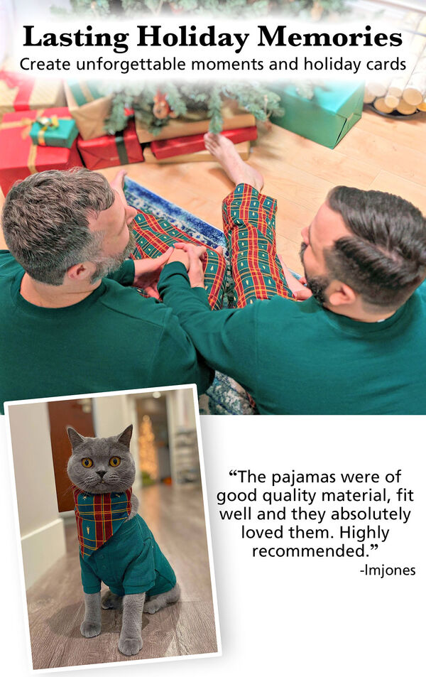 Customer photos of Red and Green Christmas Tree Plaid Matching Family Pajamas image number 2